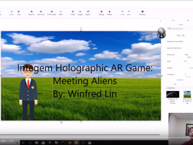 "Tutorial of ""Meeting Aliens"" Holographic AR project by Winfred Lin"