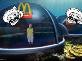 """Underwater blown up Mcdonald's"" Holographic AR Project by Lucas"