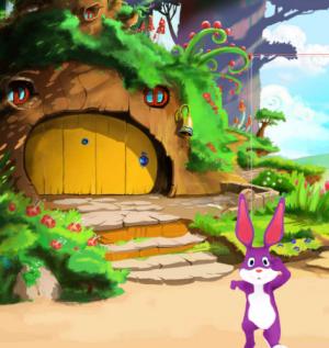 3D Rabbit (Purple)
