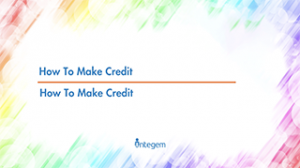 24 – How to make credit to ourselve