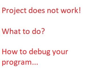 How to find bug and fix your project problems