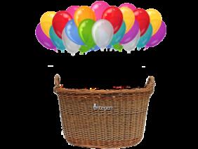 Basket ballon ride just front